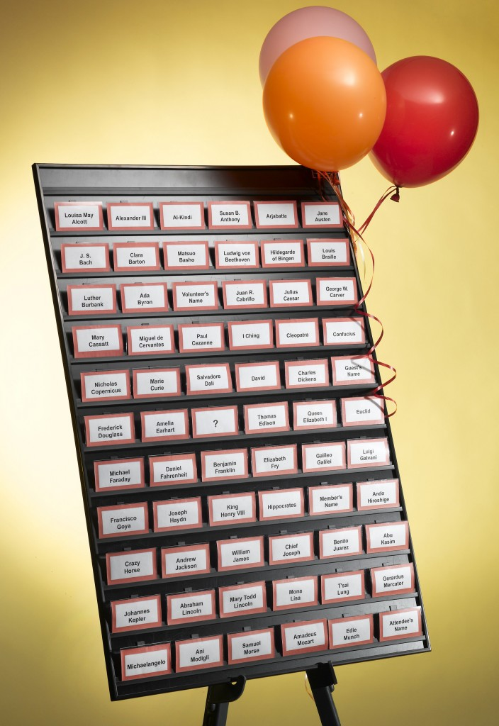 Easy Event Hosting name tag organizer