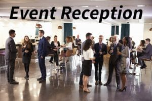 people gathering for charity events reception and drinks
