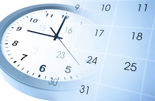 clock and calendar choosing the time for easy event scheduling