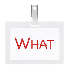 what icon easy event hosting name tag board