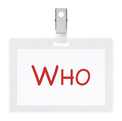 who icon easy event hosting name badge organizer