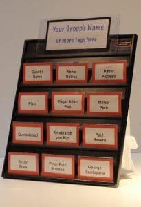 lobby name tag tamer badge holder board