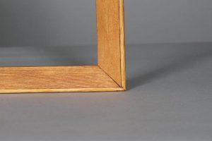oak frame closeup for name badge display board